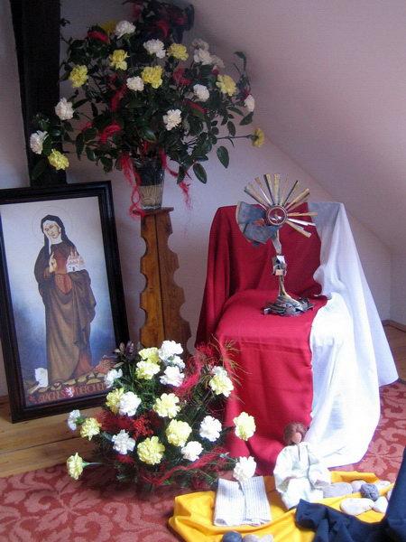 Sv. Anežka v kapli v Předbořicích
