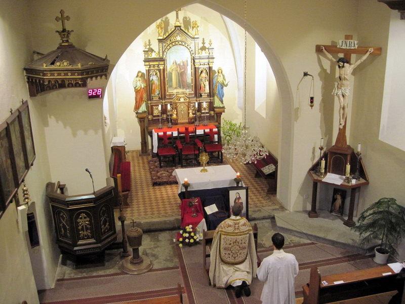 Adorace v kostele v Předbořicích