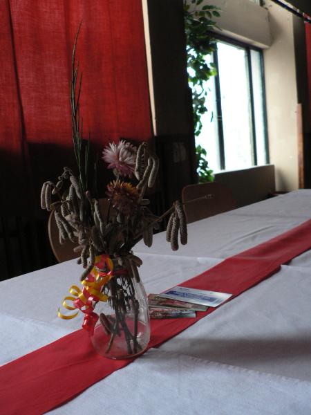 Stůl s dekorací
