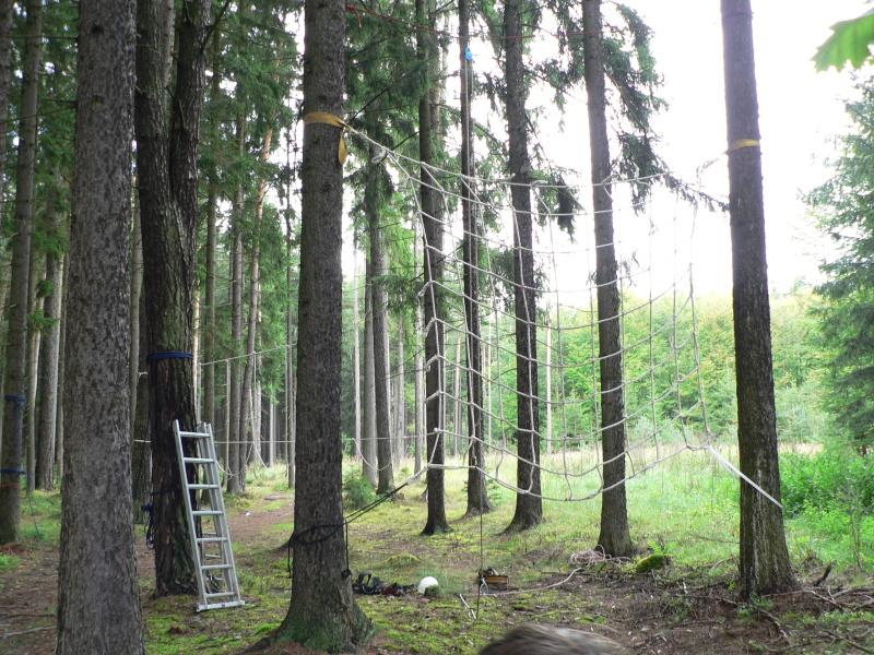 Připravené lanové překážky