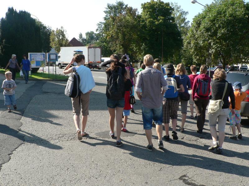 Společný odchod na autobus