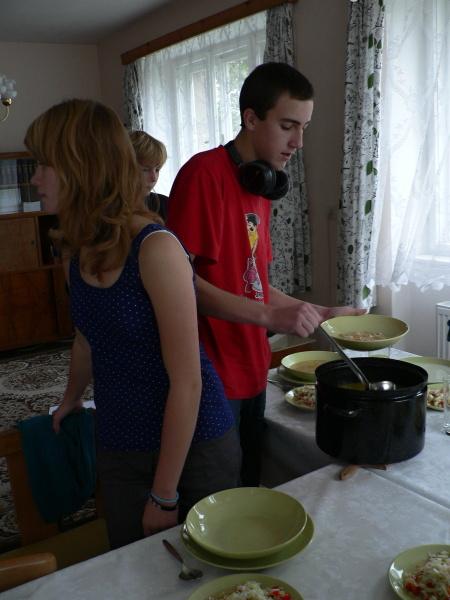 Příprava oběda...