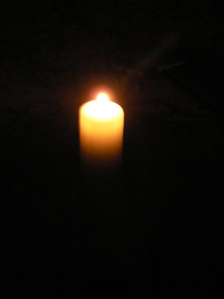 Večerní bilance při svíčce