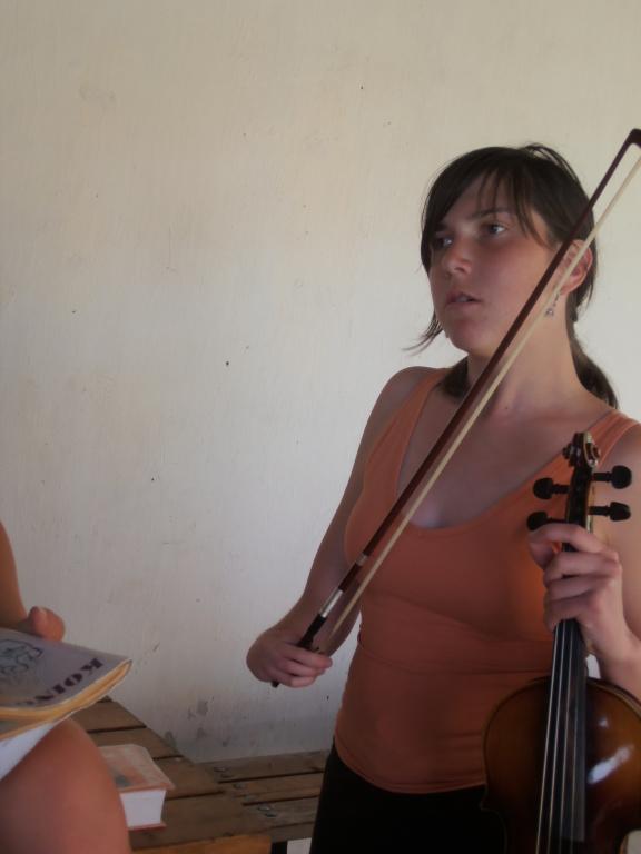 Příprava na mši svatou, Markétka měla housle