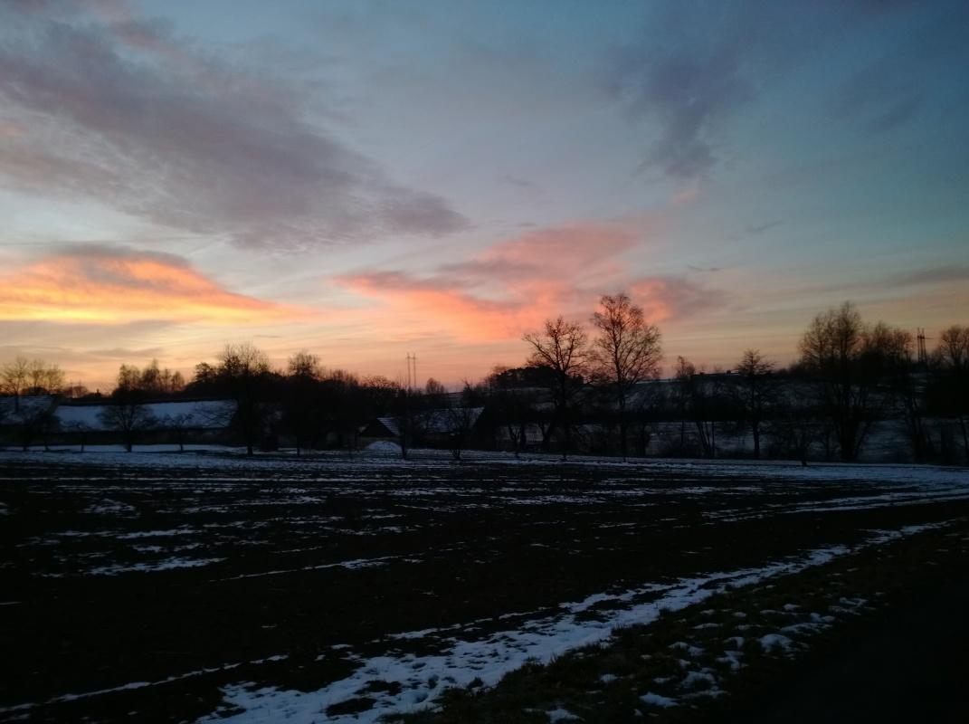 Krásná obloha při růženci