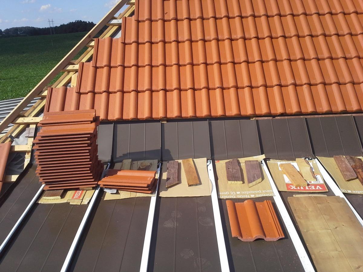 Nová plechová krytina střechy
