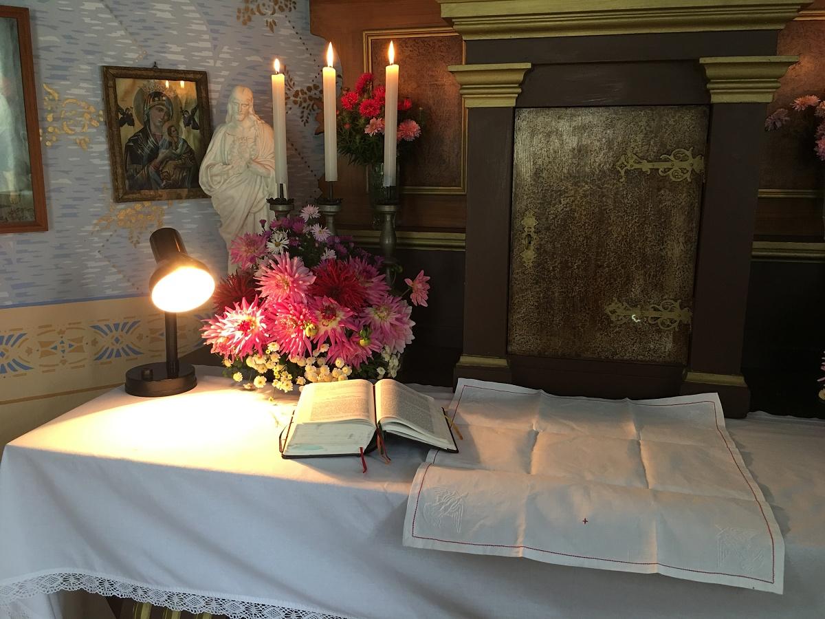 Připravený oltář